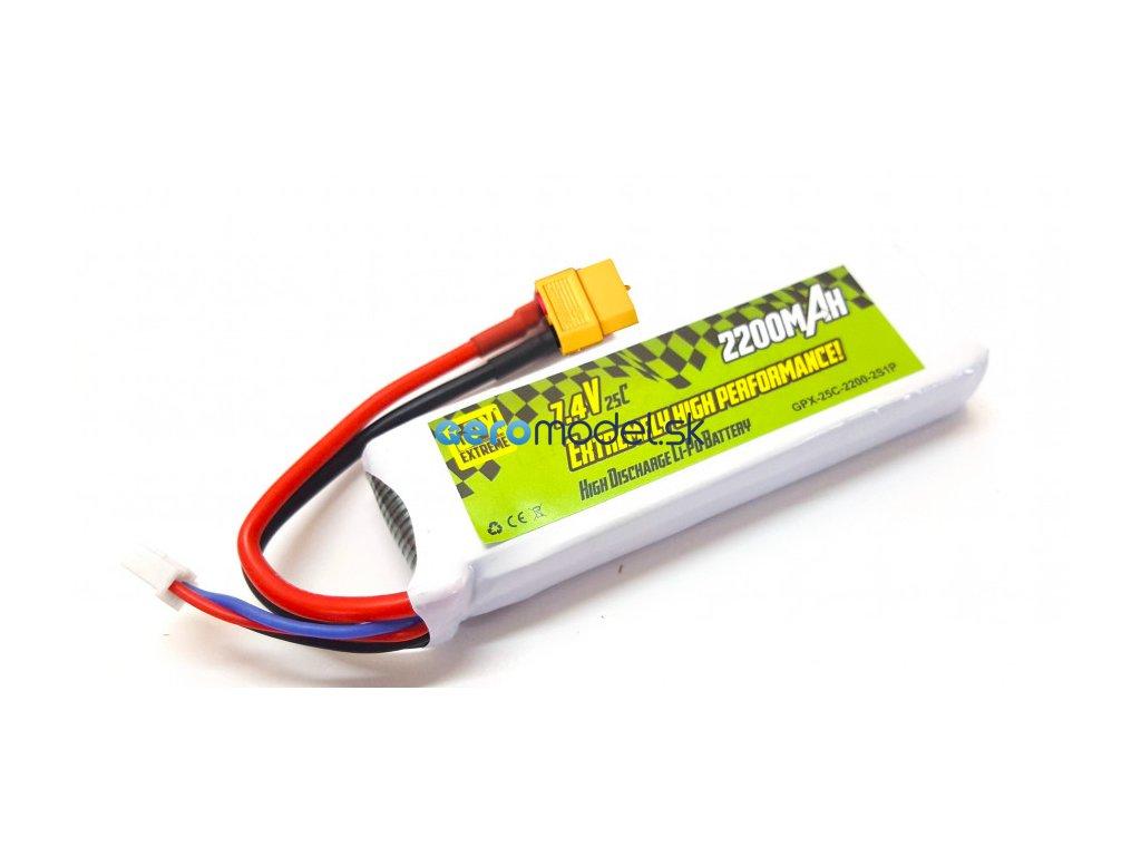 Batéria GPX Extreme: 2200mAh 7.4V 25C GPX Extreme