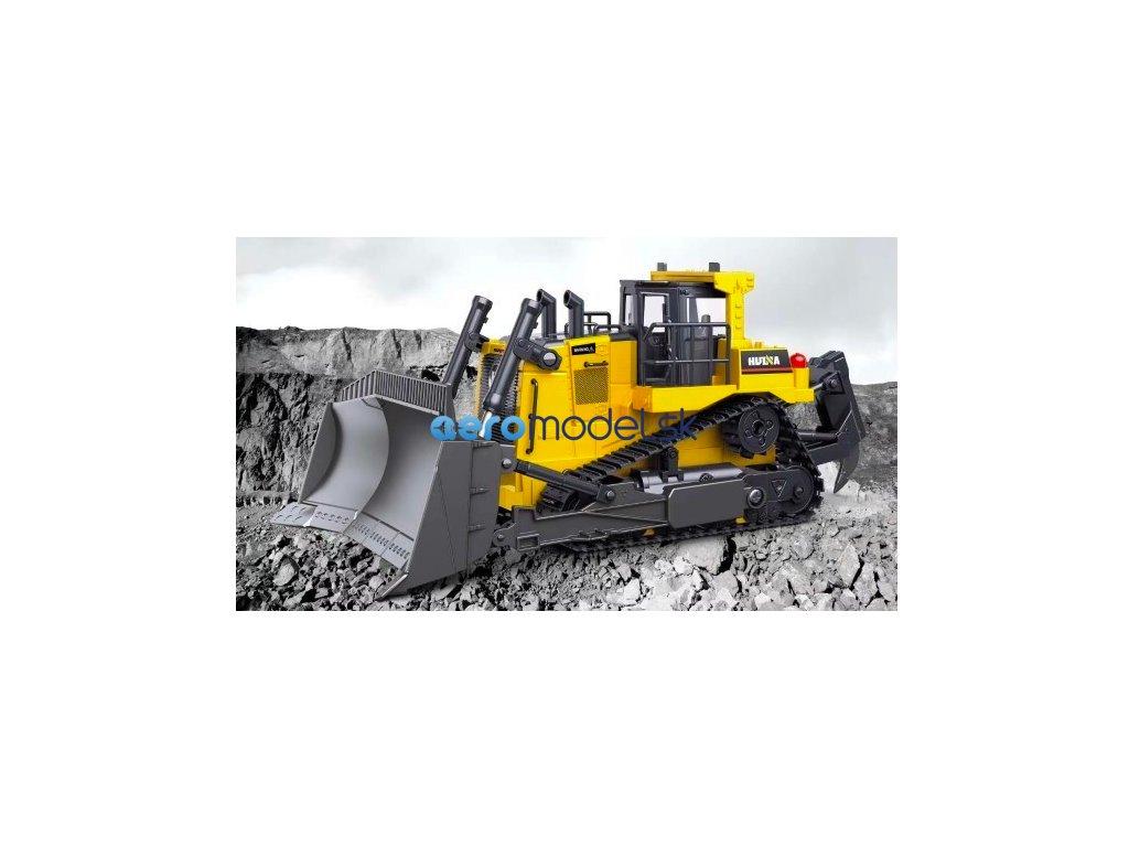 Huina (H-toys): buldozér 1:24 9CH 2,4 GHz RTR