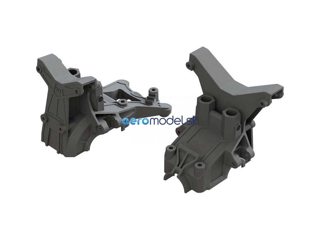 Arrma držák převodovky přední/zadní, držák tlumičů ARAC4400