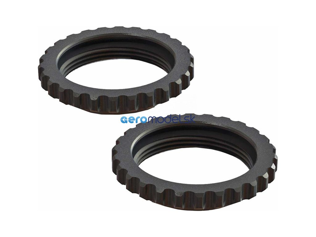 Arrma stavěcí matice tlumiče hliník, černá (2): 6S ARAC8964
