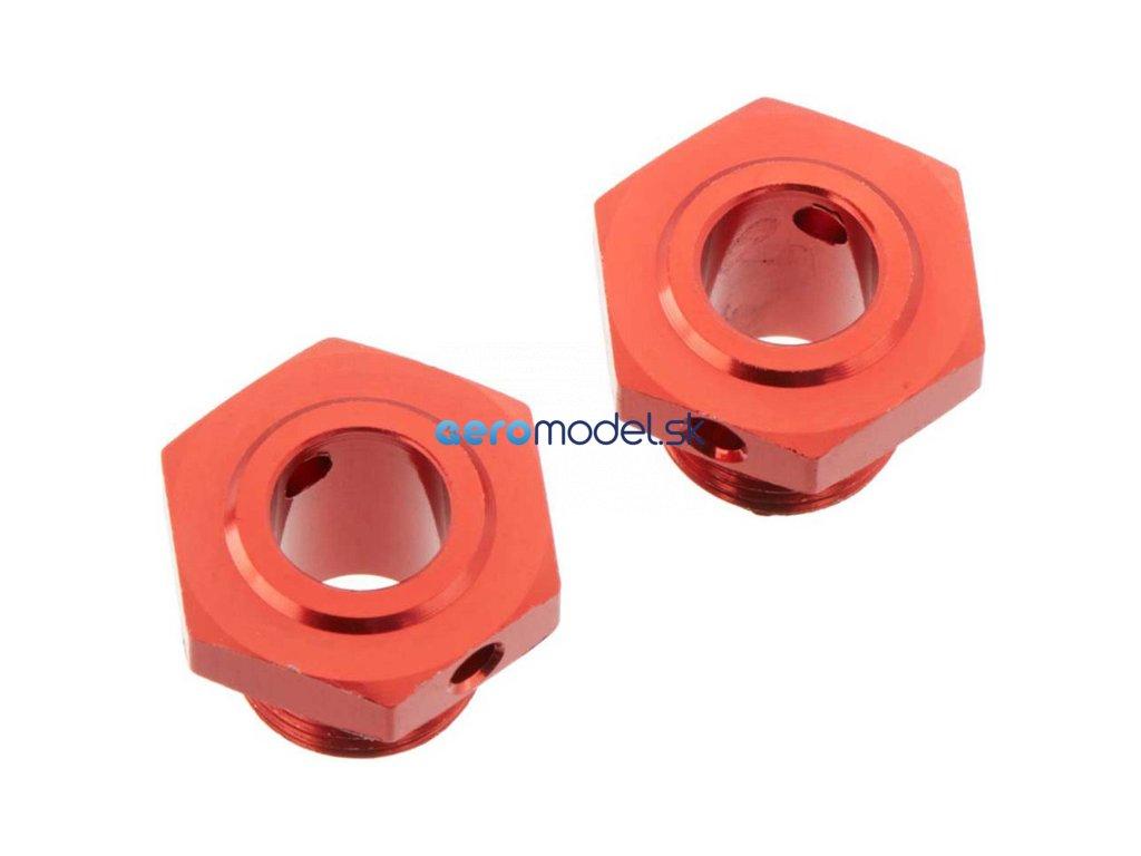 Arrma náboj kola 17mm/13.6mm hliník červený (2) ARAC9413