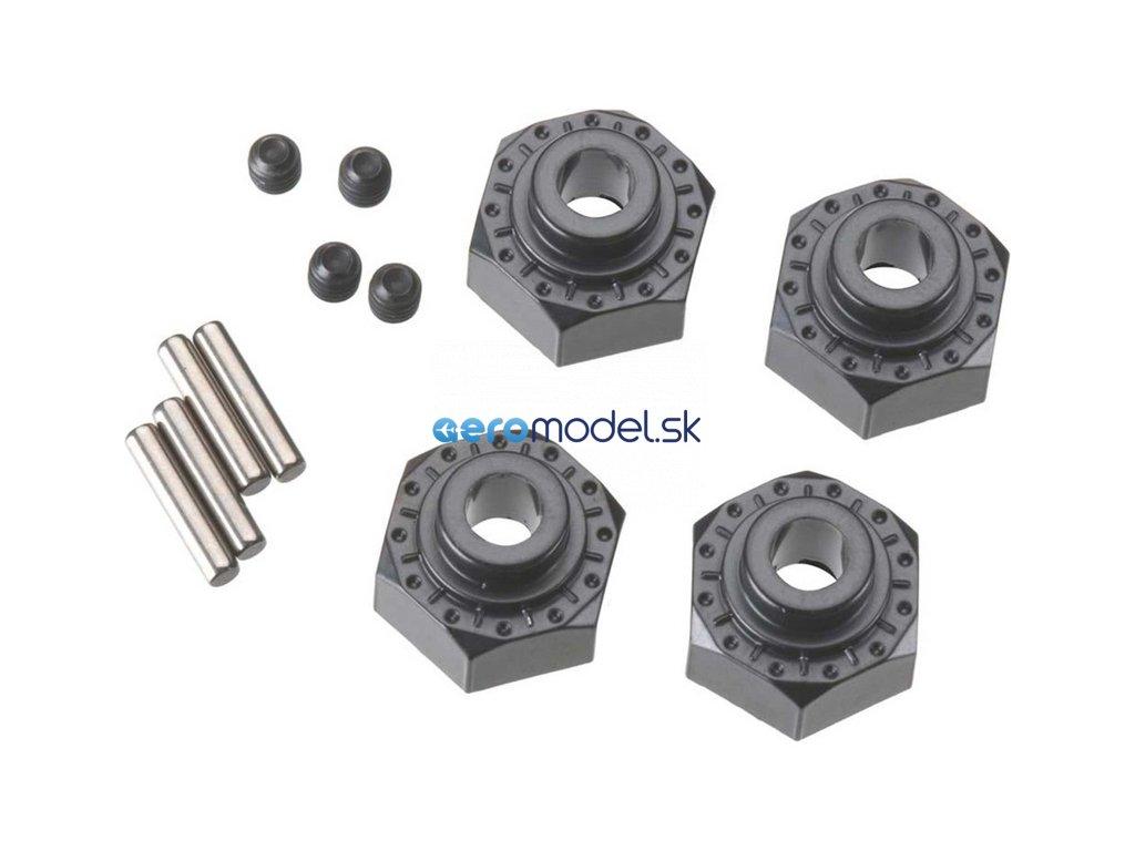 Axial hliníkový naboj kola 12mm černý (4) AXIC0429