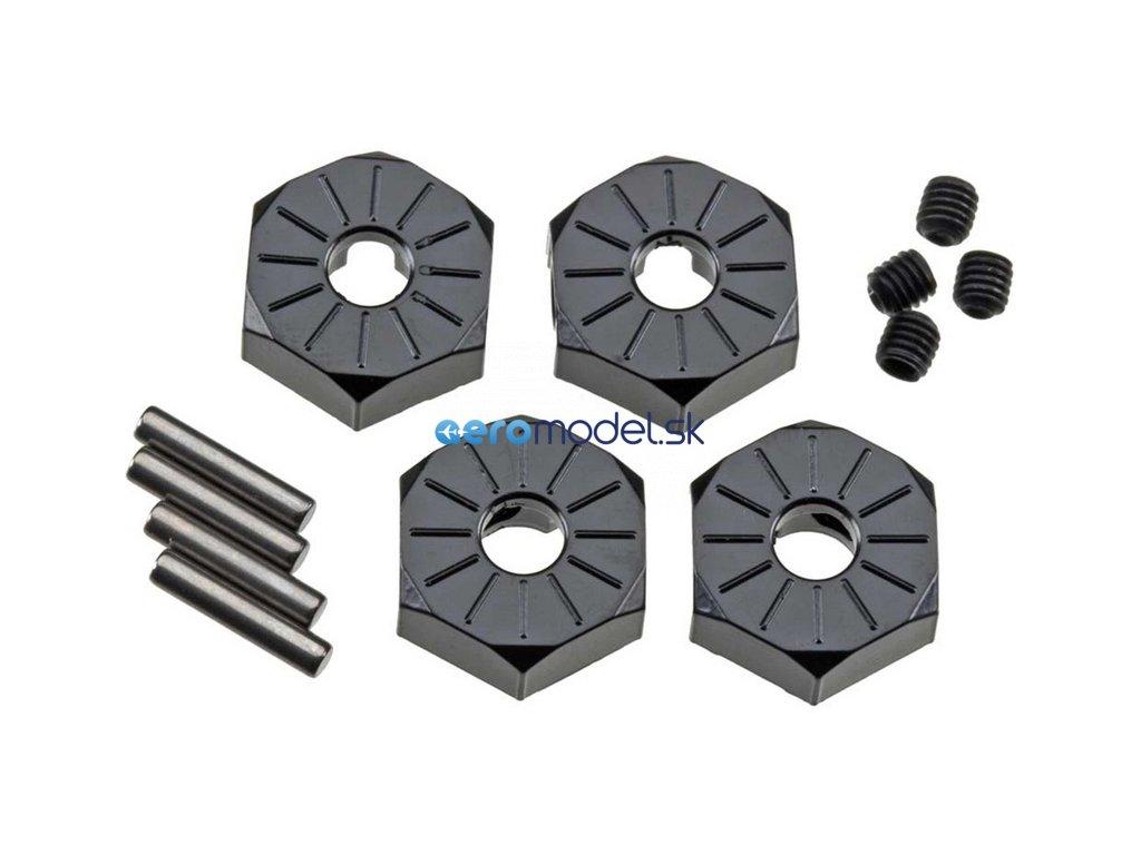 Axial hliníkový náboj kola 12mm černý (4) AXIC3042