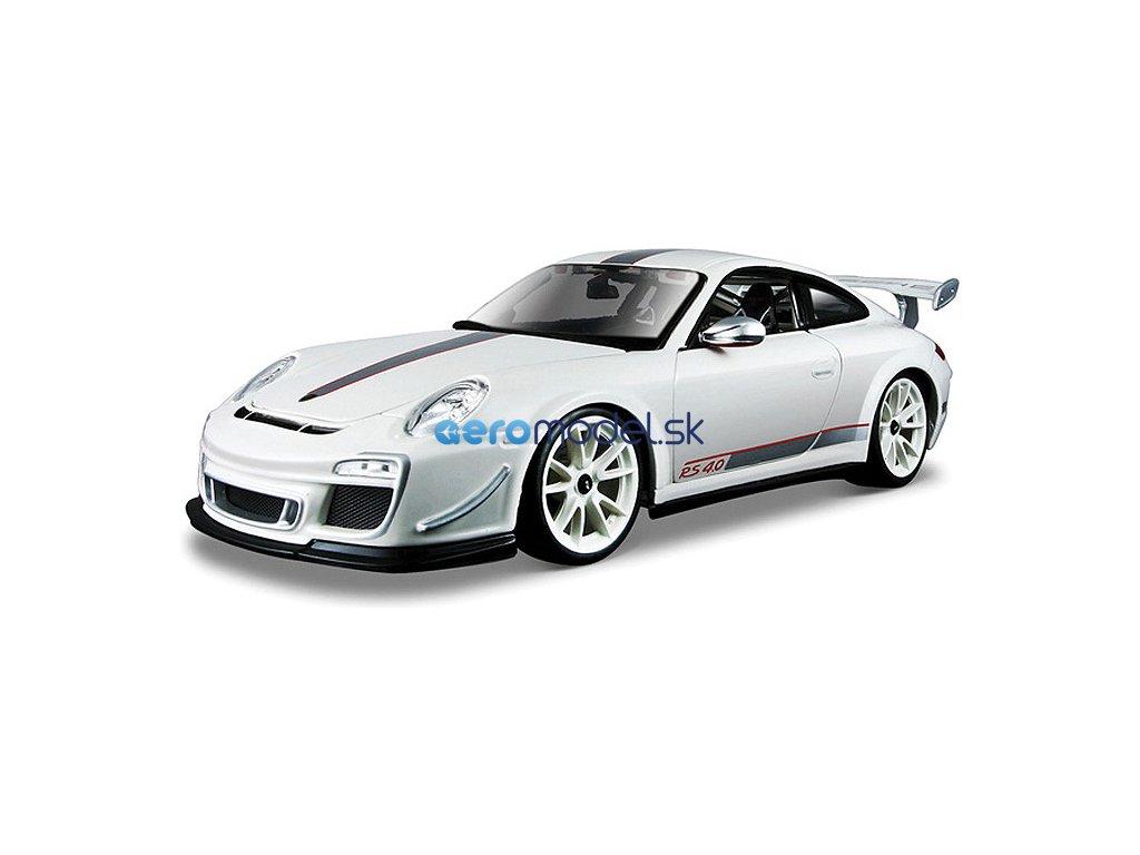 Bburago Plus Porsche 911 GT3 RS 4.0 1:18 bílá BB18-11036W