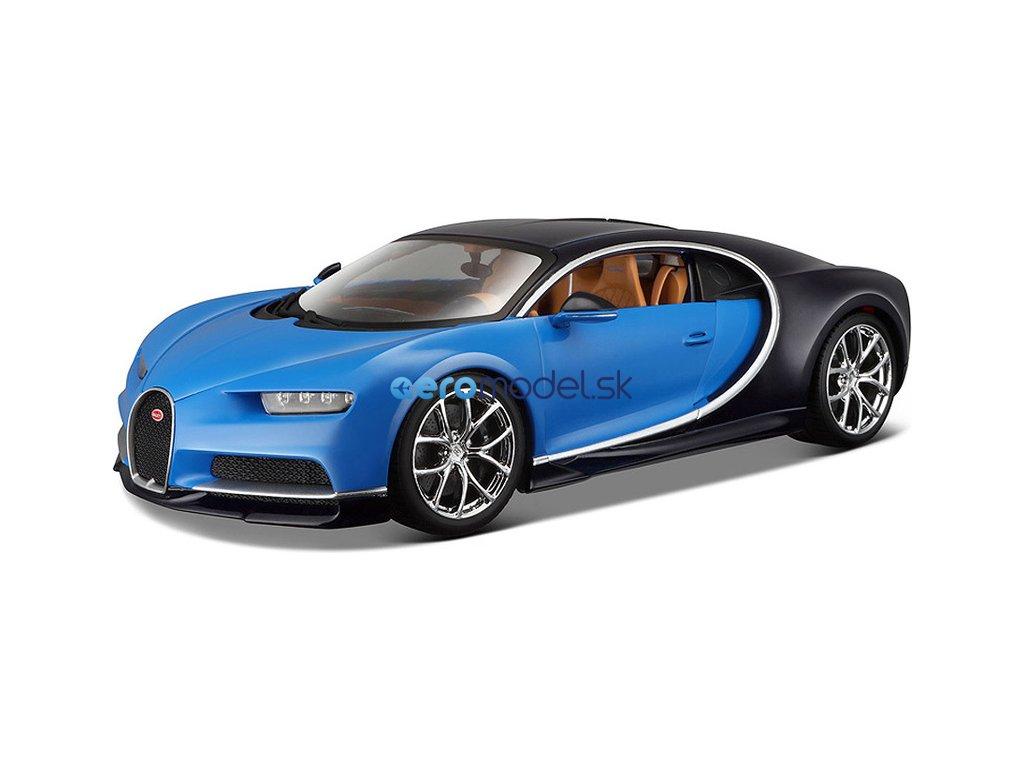 Bburago Plus Bugatti Chiron 1:18 modrá BB18-11040B
