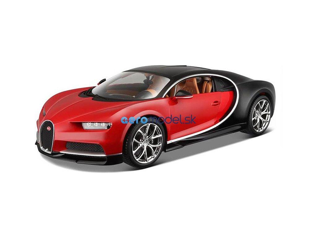 Bburago Plus Bugatti Chiron 1:18 červená BB18-11040R