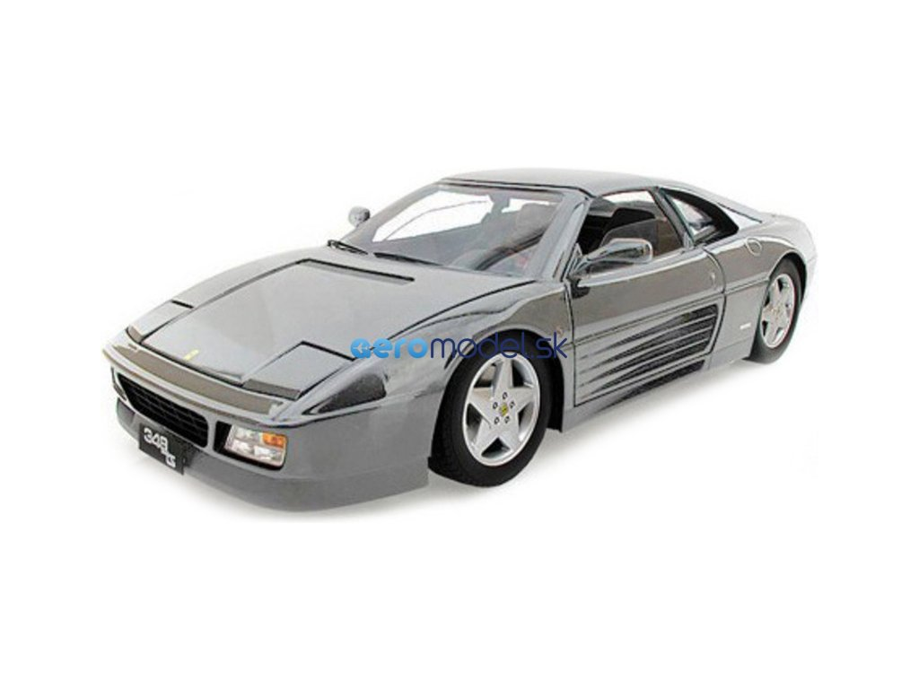 Bburago Ferrari 348ts 1:18 stříbrná BB18-16006S