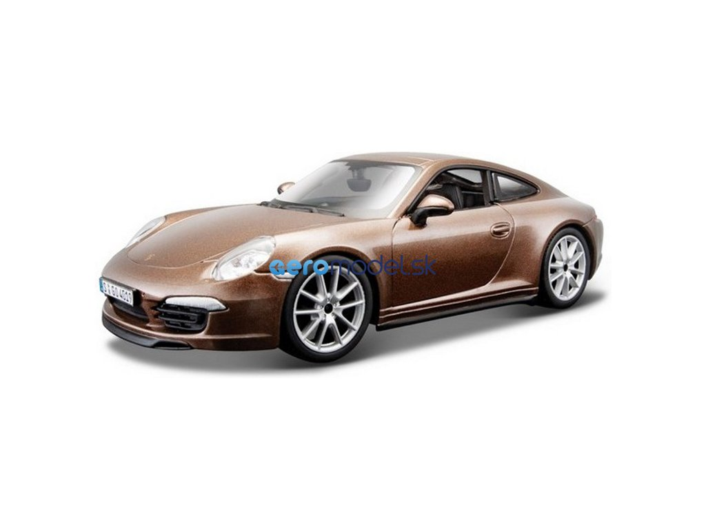 Bburago Plus Porsche 911 Carrera S 1:24 hnědá BB18-21065W