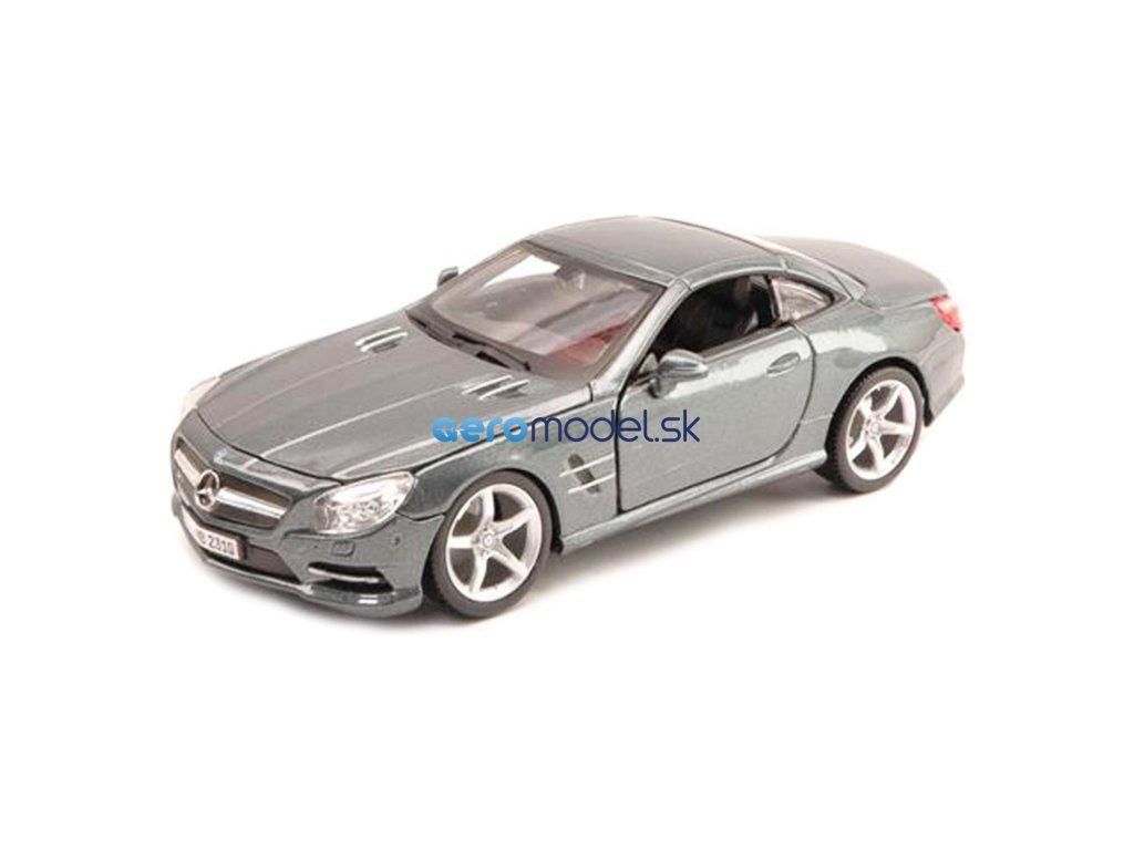 Bburago Plus Mercedes-Benz SL 500 Hardtop 1:24 stříbrná BB18-21067S