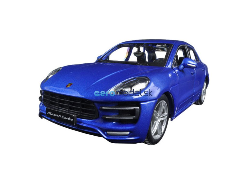 Bburago Plus Porsche Macan 1:24 modrá metalíza BB18-21077BL