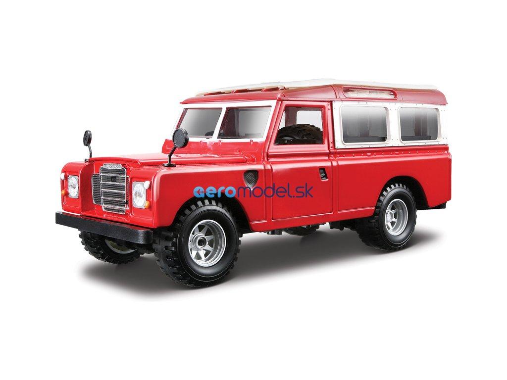 Bburago Land Rover Series II 1:24 červená BB18-22063