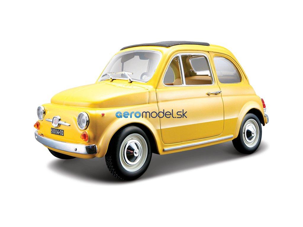 Bburago Fiat 500F 1965 1:24 žlutá BB18-22098Y