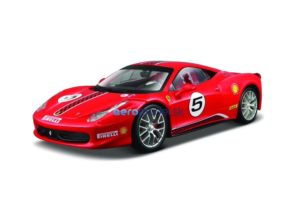 Bburago Ferrari 458 Challenge 1:24 červená BB18-26302