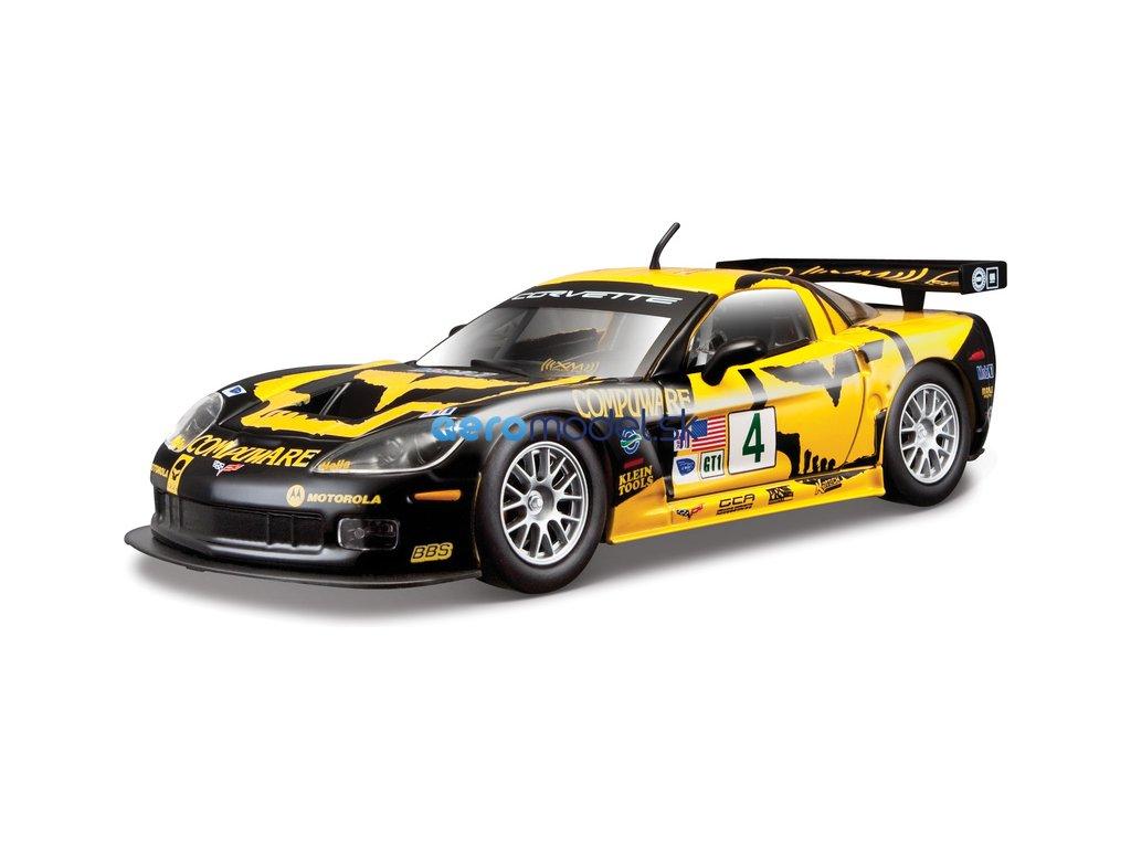 Bburago Chevrolet Corvette C6R 1:24 žlutá BB18-28003