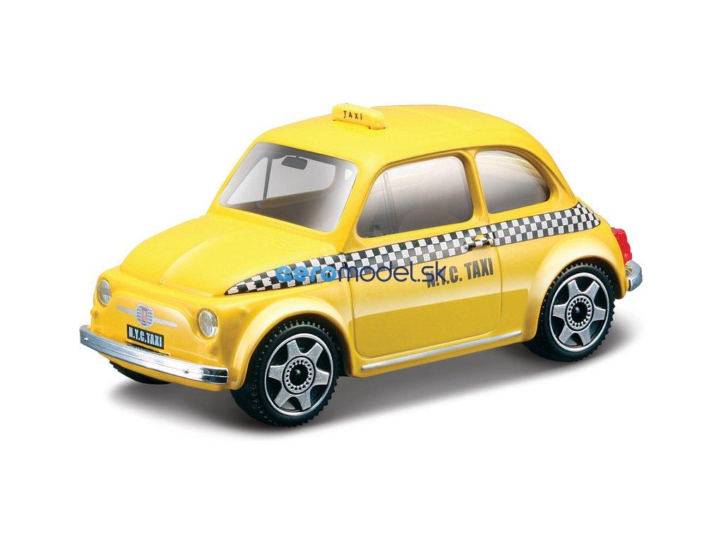 Bburago Fiat 500 Taxi 1:43 žlutá BB18-30202