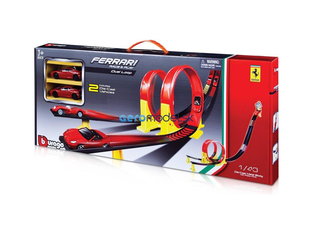 Bburago Ferrari závodní dráha se 2 lopingy BB18-31216
