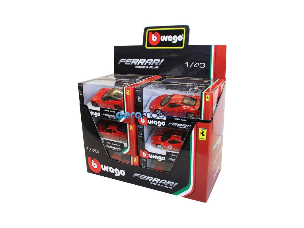 Bburago auta Ferrari 1:43 (sada 12ks) BB18-36100