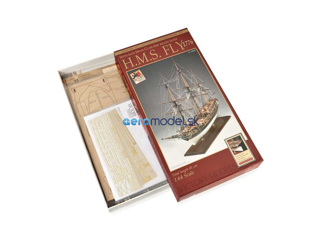 Victory Models VICTORY MODELS H.M.S. Fly 1776 1:64 kit KR-25064