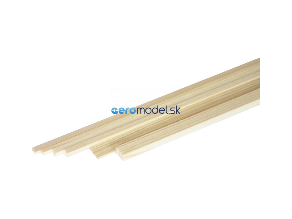 ASTRA Broušený smrkový nosník 2x8mm (1m) A2021