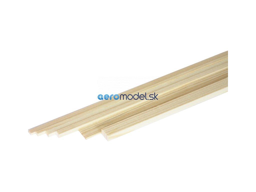 ASTRA Broušený smrkový nosník 5x5mm (1m) A2060