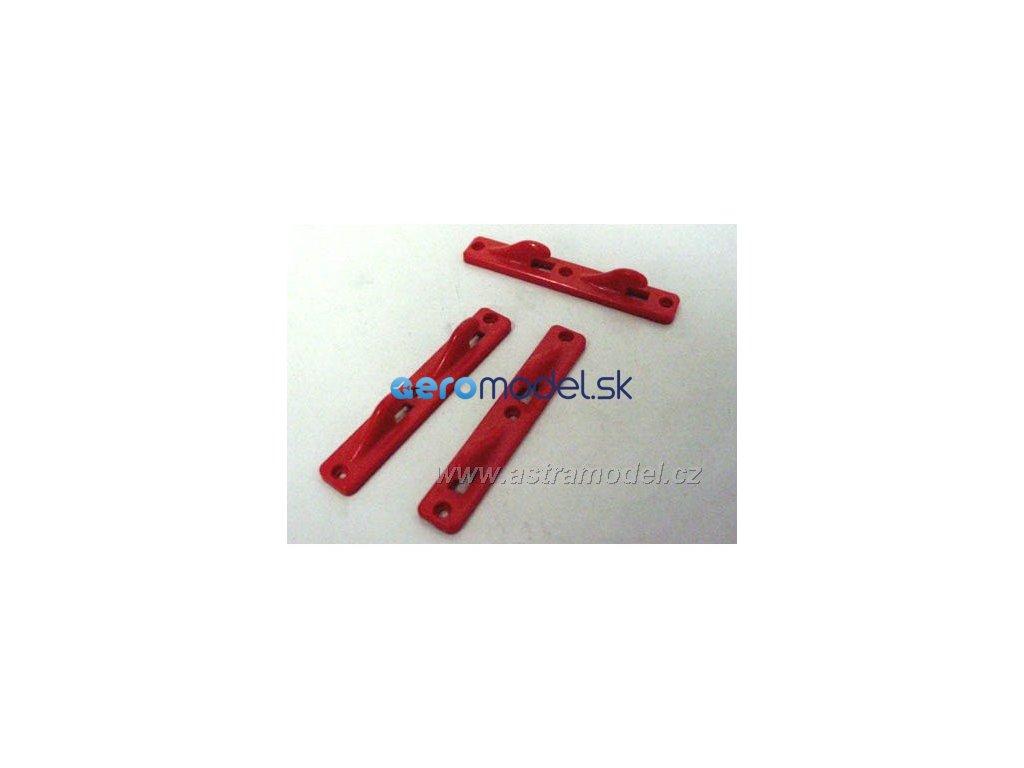 ASTRA Vlečný háček červený dvojitý (20ks) A9005