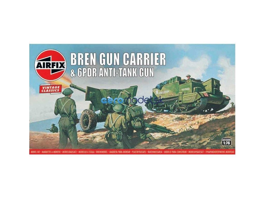Airfix Bren a 6 librové protitankové dělo (1:76) (Vintage) AF-A01309V