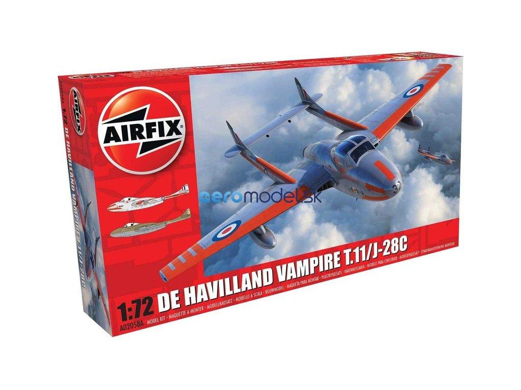 Airfix deHavilland Vampire T.11 / J-28C (1:72) AF-A02058A