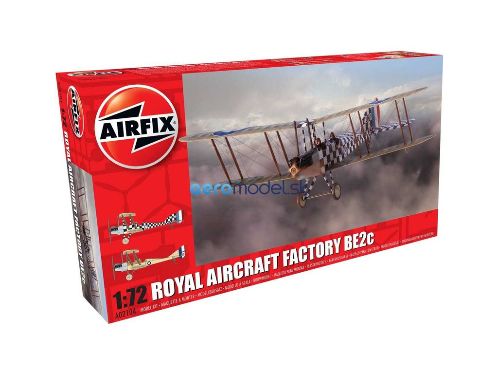 Airfix Royal Aircraft Factory BE2c Scout (1:72) AF-A02104