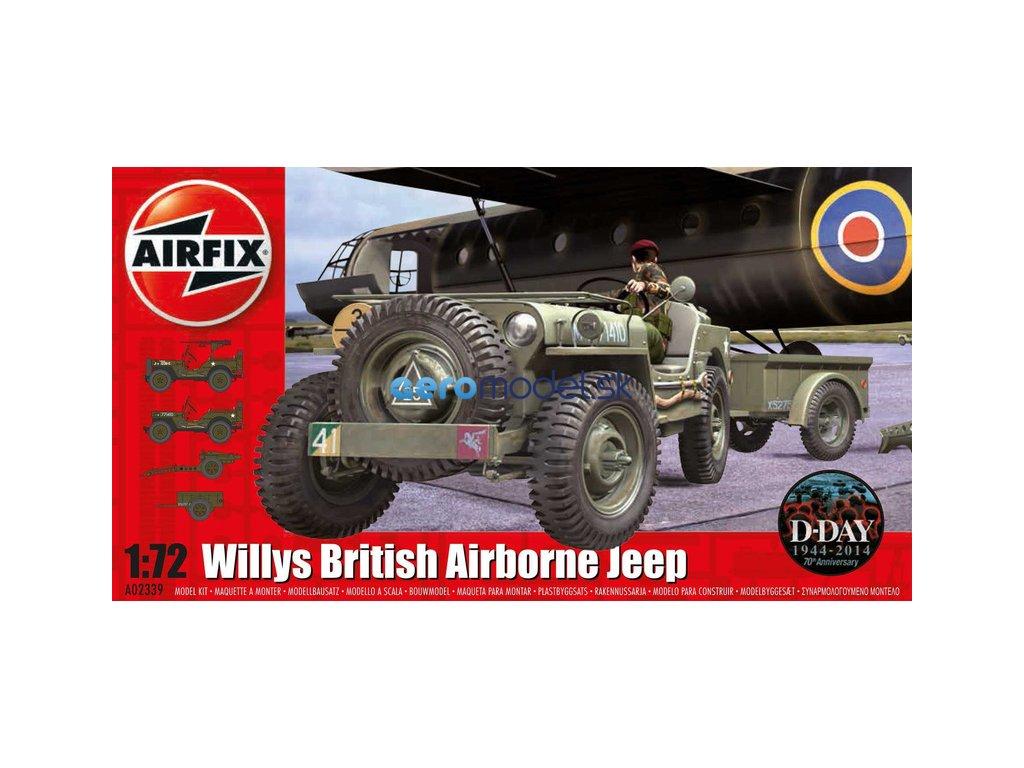 Airfix Willys Jeep, Trailer a 6PDR Gun (1:72) AF-A02339
