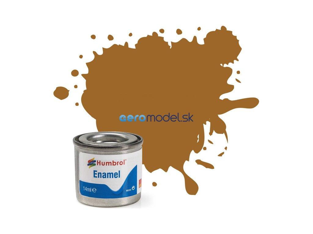 Humbrol emailová barva #234 tmavá okrová matná 14ml AF-AA0234
