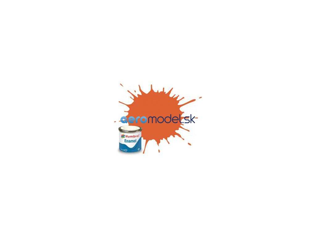 Humbrol emailová barva #82 signální oranžová matná 14ml AF-AA0905