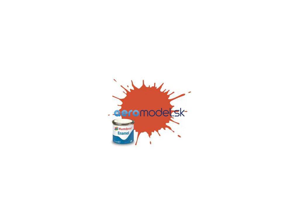 Humbrol emailová barva #132 červená polomatná 14ml AF-AA1451