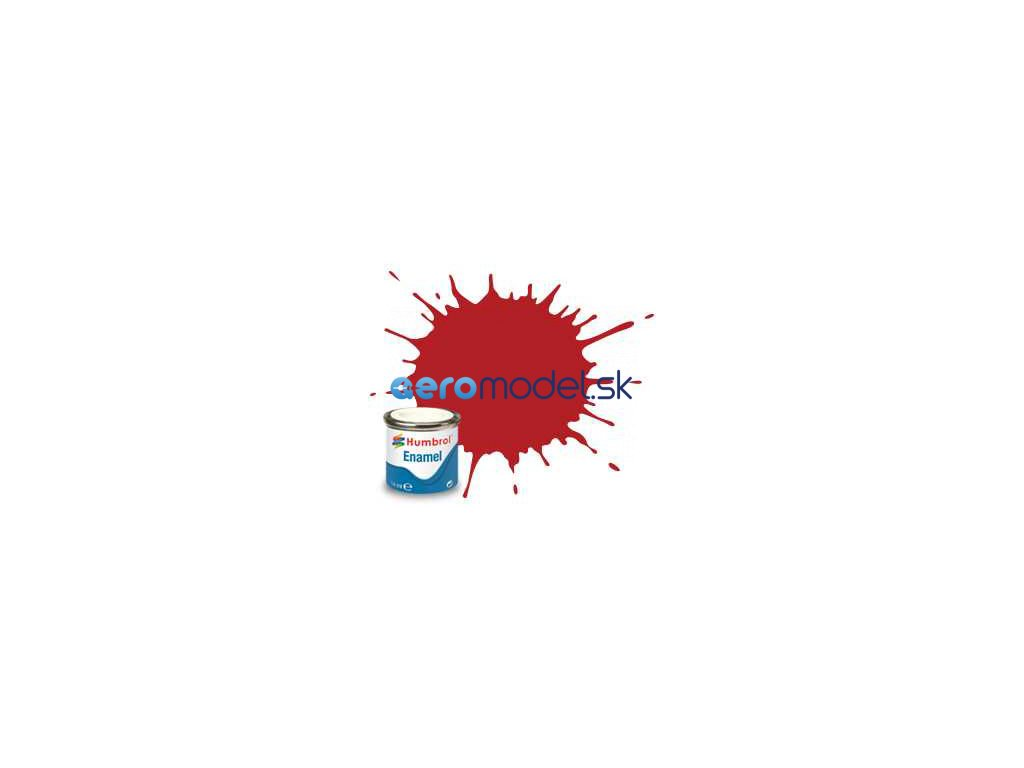 Humbrol emailová barva #153 odznaková červená matná 14ml AF-AA1660