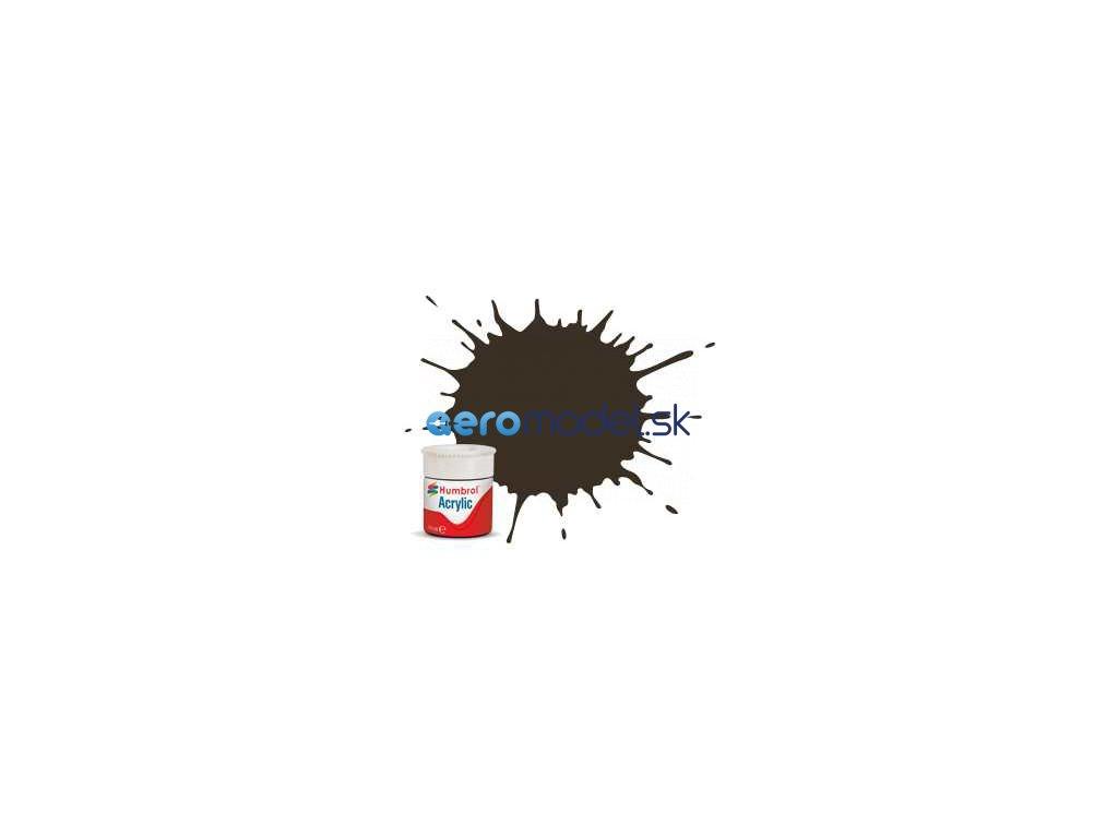 Humbrol akrylová barva #10 servisní hnědá lesklá 12ml AF-AB0010
