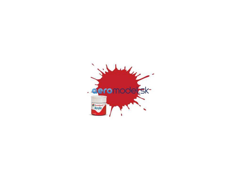 Humbrol akrylová barva #220 závodní červená lesklá 12ml AF-AB0220