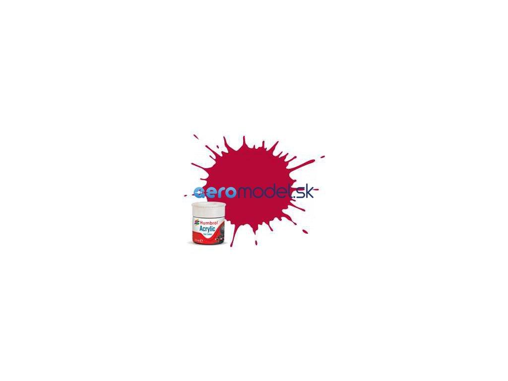 Humbrol akrylová barva #RC423 karmínově červená matná 14ml AF-AB2423