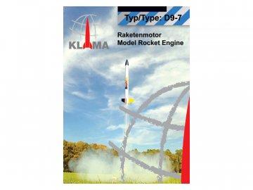 Klima raketový motor D9-7 EL (6ks) KL-0407