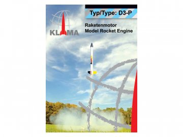 Klima raketový motor D3-P EL (6ks) KL-0449