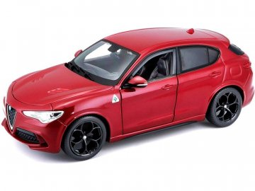 Bburago Alfa Romeo Stelvio 1:24 červená BB18-21086R