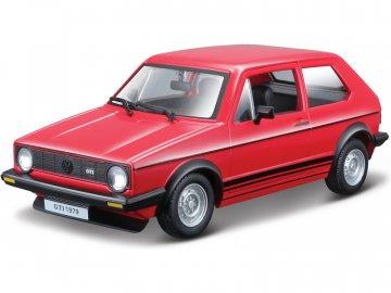 Bburago Volkswagen Golf MK1 GTI 1:24 červená BB18-21089R