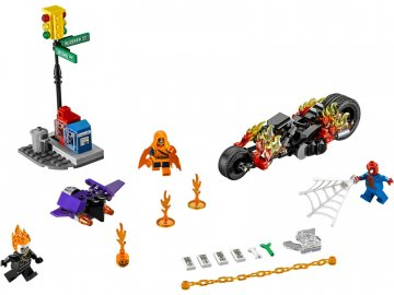 LEGO Super Heroes - Spiderman: Ghost Rider vstupuje do týmu LEGO76058