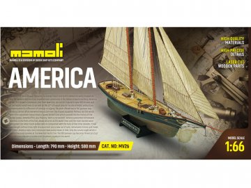 Mamoli MAMOLI America 1851 1:66 kit KR-21726