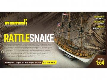 Mamoli MAMOLI Rattlesnake 1779 1:64 kit KR-21736
