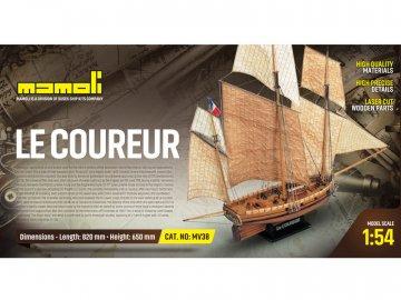 Mamoli MAMOLI Le Coureur 1776 1:54 kit KR-21738