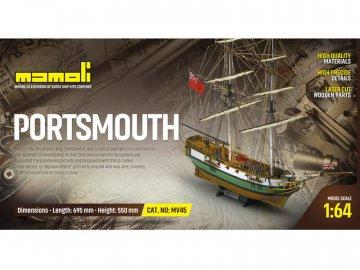 Mamoli MAMOLI Portsmouth 1796 1:64 kit KR-21745