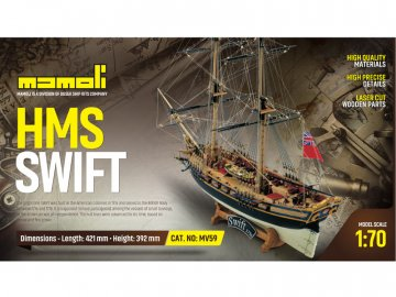 Mamoli MAMOLI Swift 1776 1:70 kit KR-21759