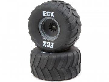 ECX Kolo s pneu, šedý disk (2): Axe MT ECX43015