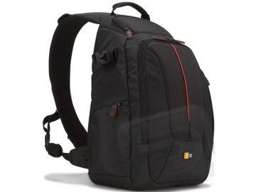 Klasický jednoramenný batoh (čierný)
