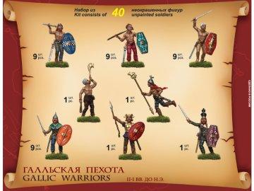 Zvezda figurky - Galští válečníci (1:72) ZV-8012