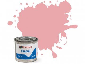 Humbrol emailová barva #57 pastelová růžová matná 14ml AF-AA0057